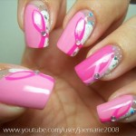 Breast Cancer Awareness Nail Design | Nail Art Gallery , 5 Breast Cancer Nail Designs In Nail Category