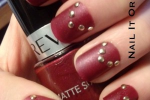 Nail , 6 Red Nail Polish Ideas : nailitorfailit: Red matte nail polish with gold... | Nail Designs