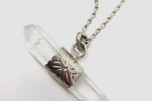 Jewelry , 6 Quartz Crystal Necklace Etsy : Horizontal Quartz Crystal Necklace. $85.00, via Etsy.