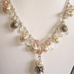 MARYKAY - GENUINE SWAROVSKI PEARL, CRYSTAL AND CHARM NECKLACE , 6  Pearl And Crystal Necklace In Jewelry Category