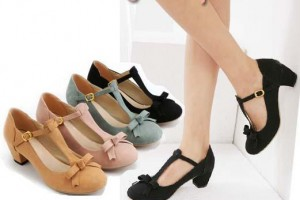 Shoes , 6 Vintage Style Dress Shoes : Retro Style Women Shoes Elegant Strappy Medium Chunky Heel Dress ...