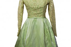 Fashion , 6 Green Vintage Prom Dress Designs : ... Green Illusion Lace Acetate Party Prom Cocktail Wedding Formal Dress