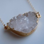 Quartz Crystal Druzy Necklace in Gold www.etsy.com/shop/443Jewelry , 6 Quartz Crystal Necklace Etsy In Jewelry Category