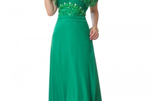 Fashion , 7 Green Vintage Prom Dress Designs : Green Formal Dress - Vilma in Vintage Green Lace | UsTrendy