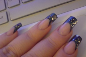 Nail , 6 Pre Designed Nail Tips : Coloured and pre designed nail tips-black-tips-twilight-evening.jpg