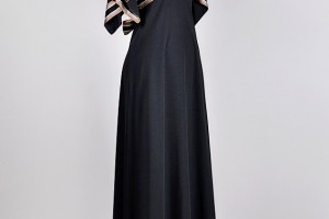 Fashion , 8 Vintage Maxi Dress : 70s black maxi angels sleeve dress