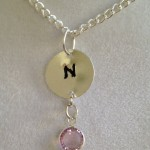 Initial N and Crystal Necklace by joytoyou41 on Etsy, ... | New Jewel ... , 6 Crystal Necklace Etsy In Jewelry Category