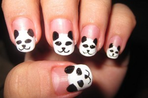 640x480px 5 Panda Nail Art Designs Picture in Nail