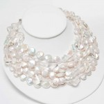8 strand coin pearl crystal necklace , 7 Pearl And Crystal Necklace In Jewelry Category