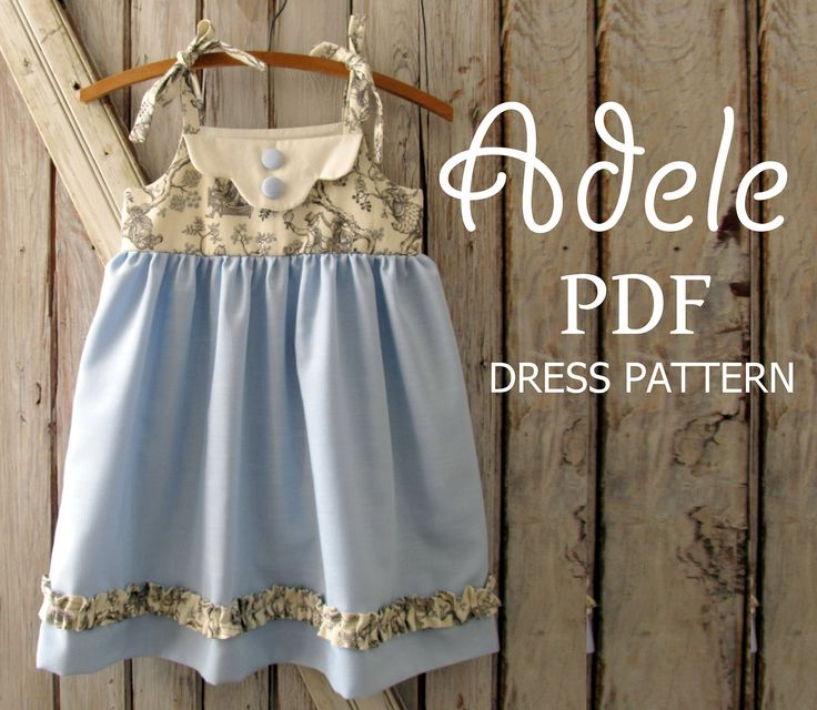 Fashion , 6 Vintage Style Dresses For Kids : Vintage Style Dress Pattern. Girl\'s Sewing Pattern. Kids Clothing ...