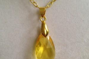 Jewelry , 6 Crystal Necklace Etsy : Topaz Swarovski Crystal Necklace by joytoyou41 on Etsy, ...   New Jew ...