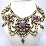 Crystal Statement Necklace by DolorisPetunia on Etsy   Etsy crafters , 6 Crystal Necklace Etsy In Jewelry Category