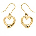9ct Gold Heart Drop Earrings | Jewellery & Watches | Womens | Freemans , 6 Gold Drop Earrings In Jewelry Category