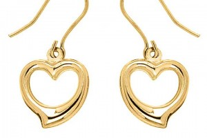 Jewelry , 6 Gold Drop Earrings : 9ct Gold Heart Drop Earrings | Jewellery & Watches | Womens | Freemans