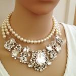 Necklace, Crystal Bib Necklace, Hollywood, Chunky, Victorian Necklace ... , 6 Crystal Bib Necklace Etsy In Jewelry Category