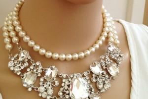 Jewelry , 6 Crystal Bib Necklace Etsy : Necklace, Crystal Bib Necklace, Hollywood, Chunky, Victorian Necklace ...