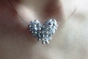 Jewelry , 6 Crystal Necklace Etsy : Crystal Heart Necklace - Joqqos Jewels on Etsy!!!! | Hearts #2