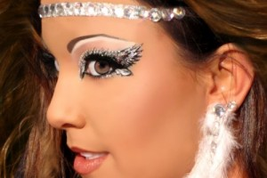 Make Up , 6 Rhinestone Eye Makeup : Angelic Glitter Eyes HALO Rhinestone Angel Costume Makeup Xotic Eyes ...