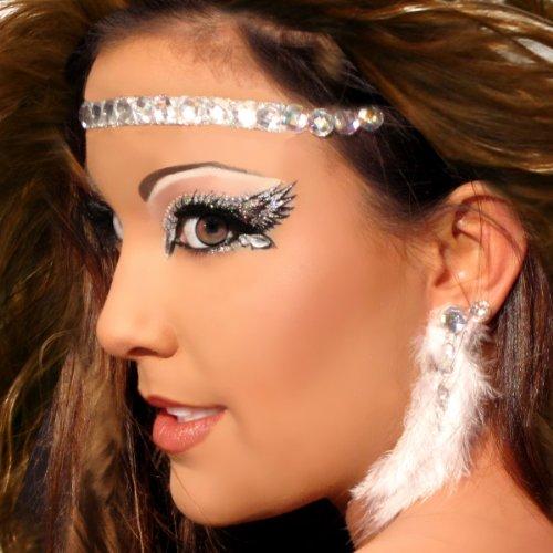 Make Up , 6 Rhinestone Eye Makeup : Angelic Glitter Eyes HALO Rhinestone Angel Costume Makeup Xotic Eyes ...