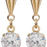 Argos Gold Cubic Zirconia Andralok Drop Earrings , 13 Argos Gold Drop Earrings In Jewelry Category