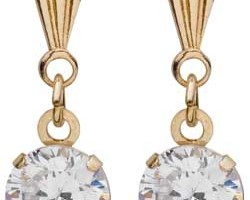 Jewelry , 13 Argos Gold Drop Earrings : Argos Gold Cubic Zirconia Andralok Drop Earrings