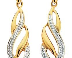 Jewelry , 13 Argos Gold Drop Earrings : Argos Gold Diamond Flame Drop Earrings