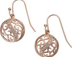 Jewelry , 13 Argos Gold Drop Earrings : Argos Rose Gold Plated Silver Cubic Zirconia Drop Earrings