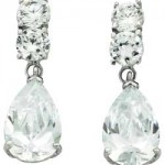 Argos White Gold Pear Drop Cubic Zirconia Earrings , 13 Argos Gold Drop Earrings In Jewelry Category