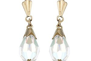 Jewelry , 13 Argos Gold Drop Earrings : Argos Yellow Gold Crystal Drop Earrings