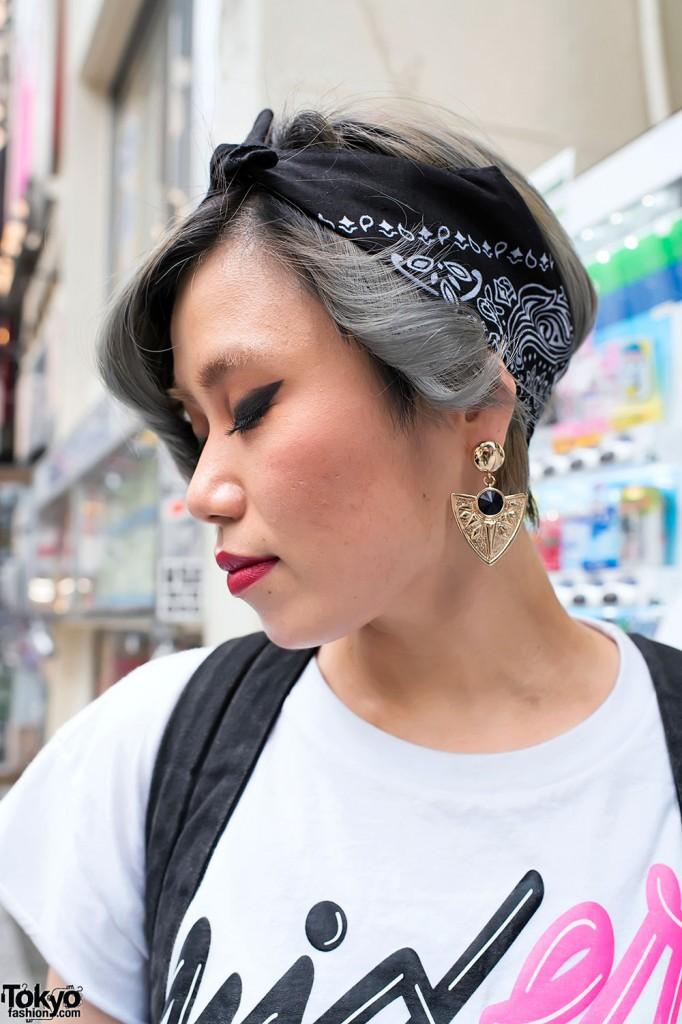 Hair Style , 6 Cute Bandana Hairstyles : ... Shibuya Cute Short Hairstyle & Bandana Headband – Tokyo Fashion News