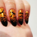 Battyblack gold Batty nail art , 8 Batty Nail Art Designs In Nail Category