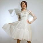 Beauty Short Vintage Wedding Dresses , 8 Vintage Short Wedding Dress In Wedding Category