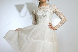Wedding , 8 Vintage Short Wedding Dress : Beauty Short Vintage Wedding Dresses