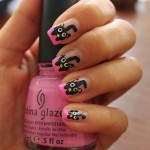 Black Cats on Pink French Nails , 7 Black Kitty Nail Art In Nail Category
