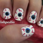 Bloodshot Eyes Nail Art , 5 Bloodshot Eyes Nail Design In Nail Category