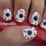 Bloodshot Eyes Nail Art , 5 Bloodshot Eyes Nail Design In Nail Category