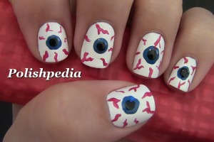 Nail , 5 Bloodshot Eyes Nail Design : Bloodshot Eyes Nail Art