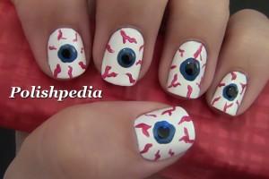 Nail , 5 Bloodshot Eyes Nail Design : Bloodshot Eyes Nail Art