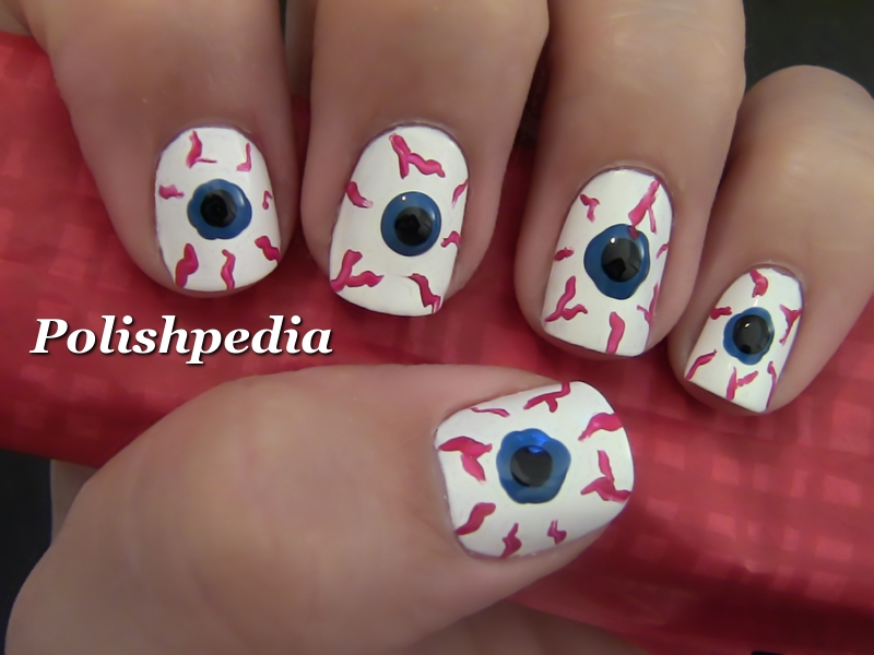 5 Bloodshot Eyes Nail Design in Nail