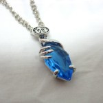 Blue Crystal Necklace , 6 Crystal Necklace In Jewelry Category