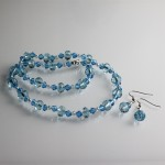 Blue Crystal Necklace and Earring Set , 6 Blue Crystal Necklace And Earring Set In Jewelry Category