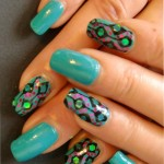 Blue Vintage Nail Art Design , 8 Vintage Style Nail Designs In Nail Category