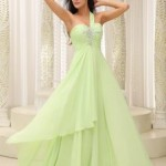 Bodice Beaded Decorate Bust Prom DressIN Vintage Prom Dresses , 6 Green Vintage Prom Dress Designs In Fashion Category