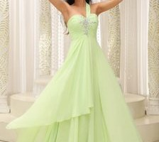 Fashion , 6 Green Vintage Prom Dress Designs : Bodice Beaded Decorate Bust Prom DressIN Vintage Prom Dresses