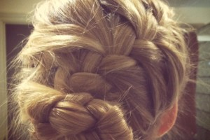 Hair Style , 6 Buns With Braiding Hair : Braid bun