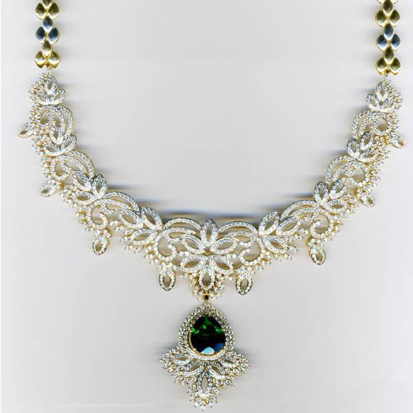Malar World Latest Bridal Diamond Necklace Designs 7
