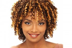 Hair Style , 6 Straw Curls Hairstyle :  Cap Weave Human Hair