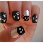 Cartoon Cat Nail Art , 7 Black Kitty Nail Art In Nail Category