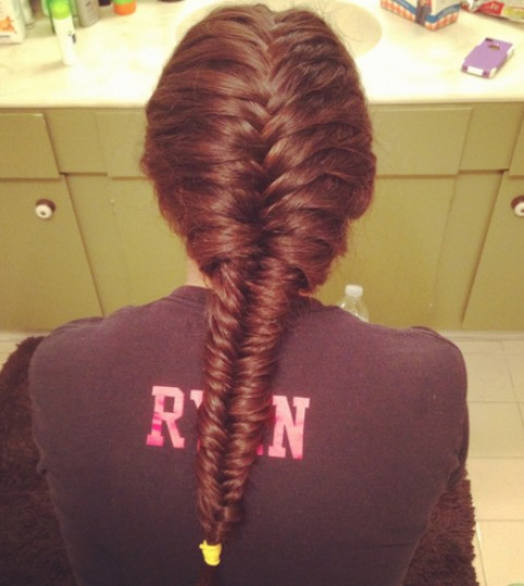7 Fishtail French Braid in Hair Style