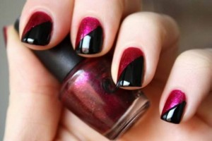 Nail , 6 Black Red Nail Design : Cool Black Red Nail Color Ideas